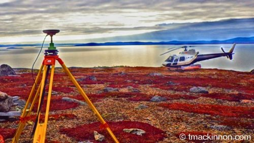Leica GPS survey control base