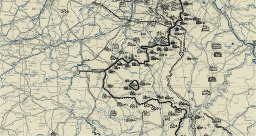 12th Army Group Situation map 25 December 1944
