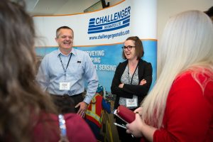 Challenger booth with Tim Steeves