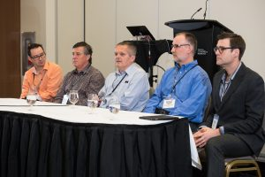 From left to right; Neil Gerein, Terry Dietz, Tim Steeves, Bernie Conners and Mike Wolf