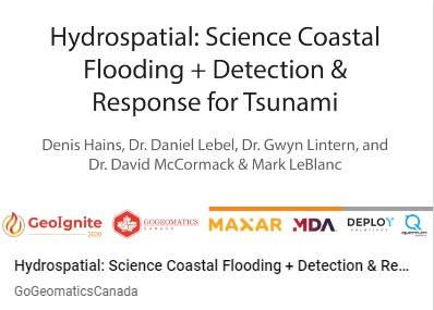 GeoIgnite 2020 Video : Hydrospatial – Understanding Coastal Flooding, Detection & Response for Tsunami