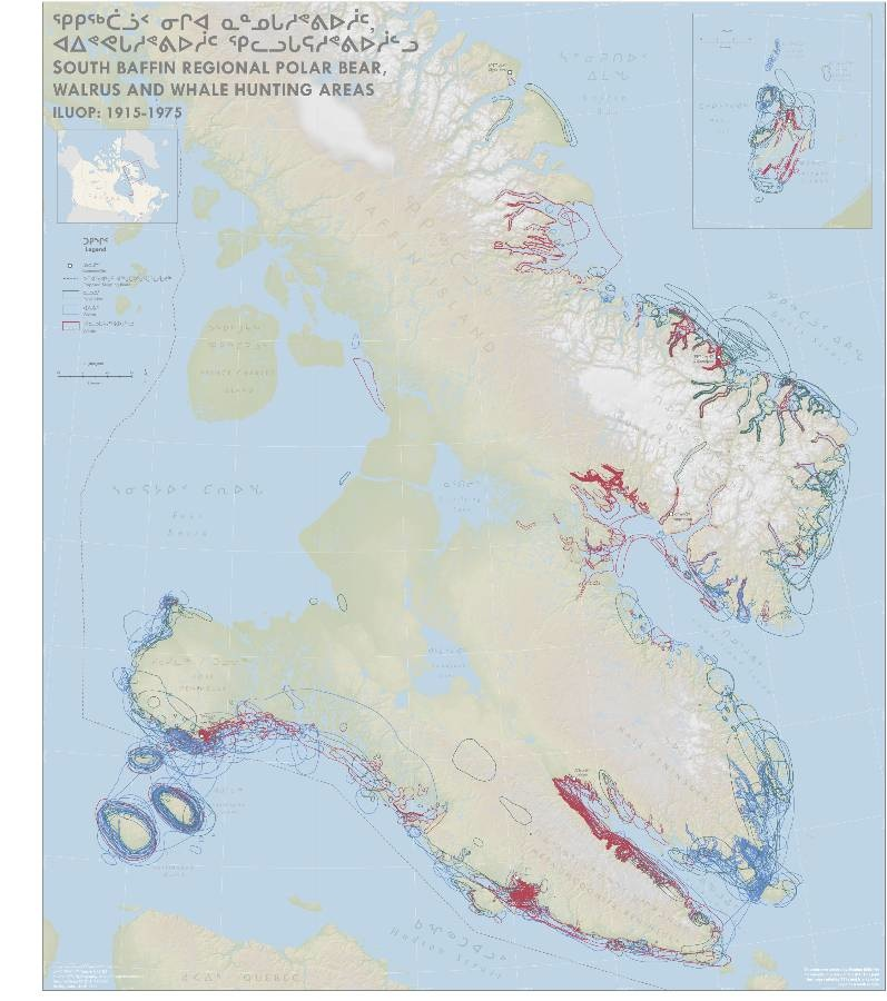 South Baffin Regional Polar Bear, Walrus and Whale Hunting Areas 1915-1975
