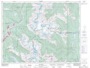 Système national de référence cartographique. Whistler, C.-B., 50K