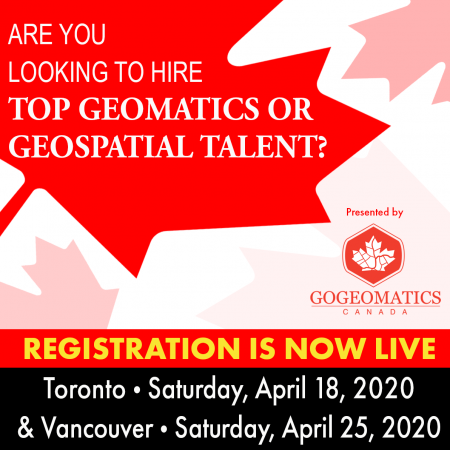 REGISTRATION OPEN: CANADIAN GEOSPATIAL RECRUITING EVENTS