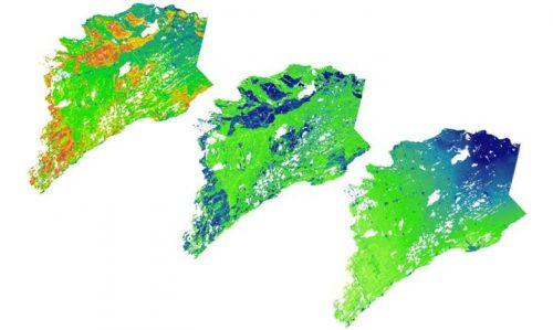 3. WESA GIS: Collage of a Evapotranspiration study for Eastern Ontario.