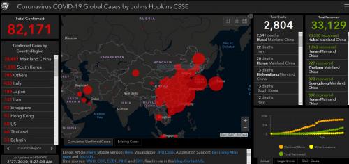 coronavirus live update map