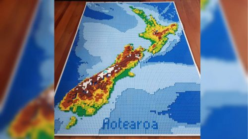 Lego map of NZ